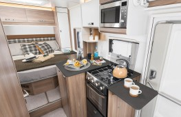 Swift Fiat Ducato motorhome, cooking area